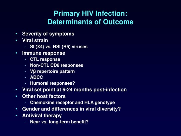 Primary HIV Infection: