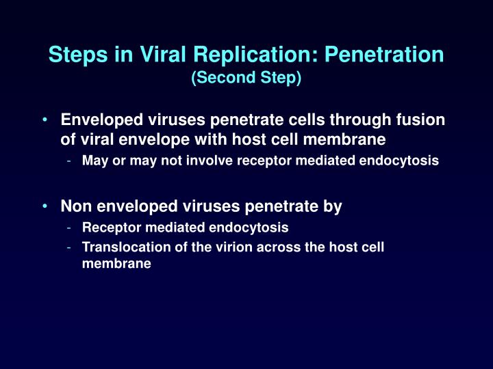 Steps in Viral Replication: Penetration