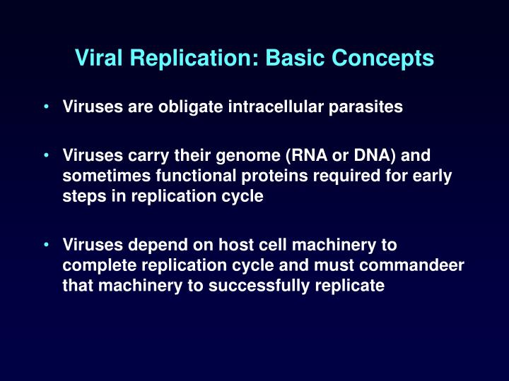 Viral Replication: Basic Concepts