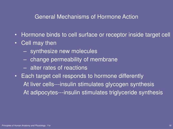 General Mechanisms of Hormone Action