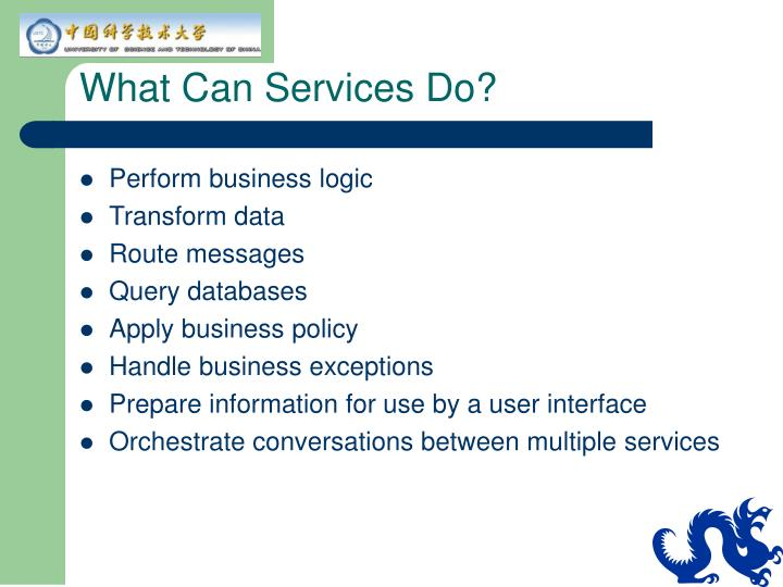 What Can Services Do?