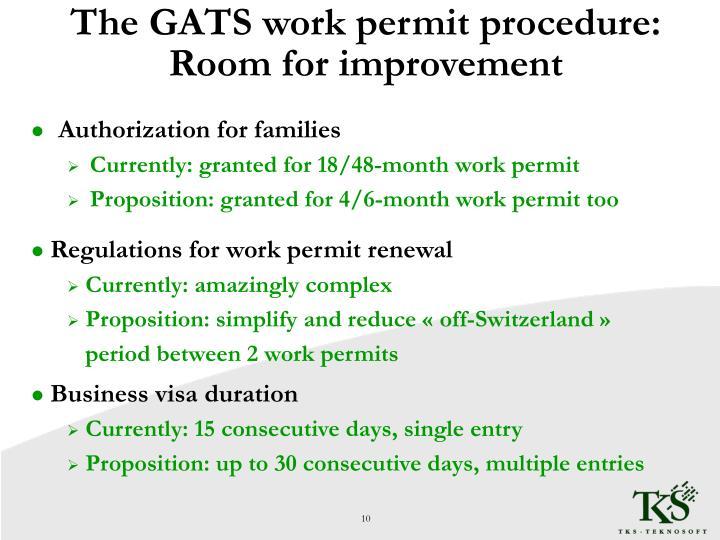 The GATS work permit procedure: