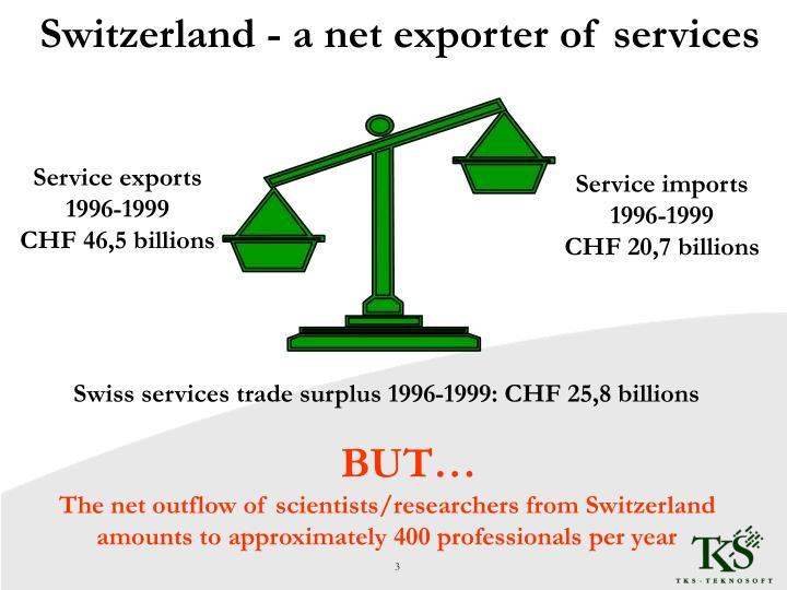 Switzerland - a net exporter of services