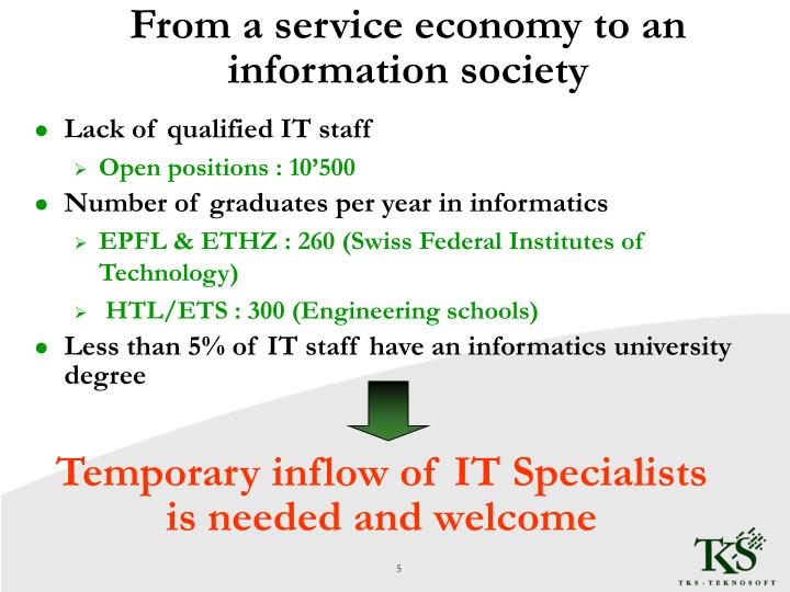 From a service economy to an information society