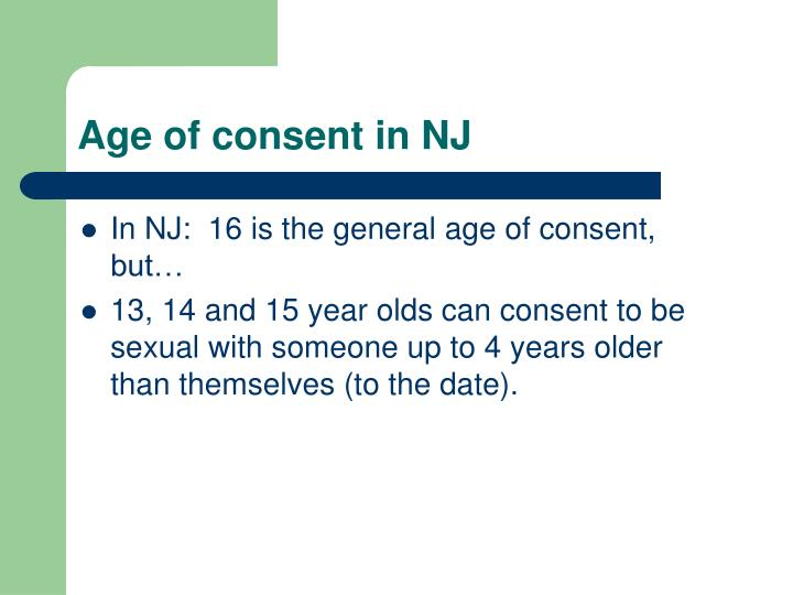 Age of consent in NJ