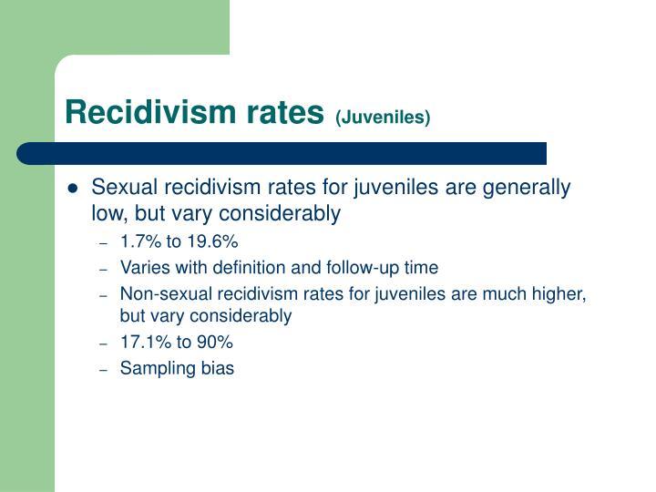 Recidivism rates