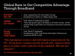 global race to get competitive advantage through broadband1