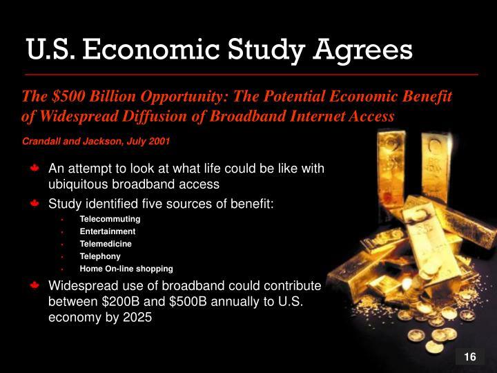 U.S. Economic Study Agrees