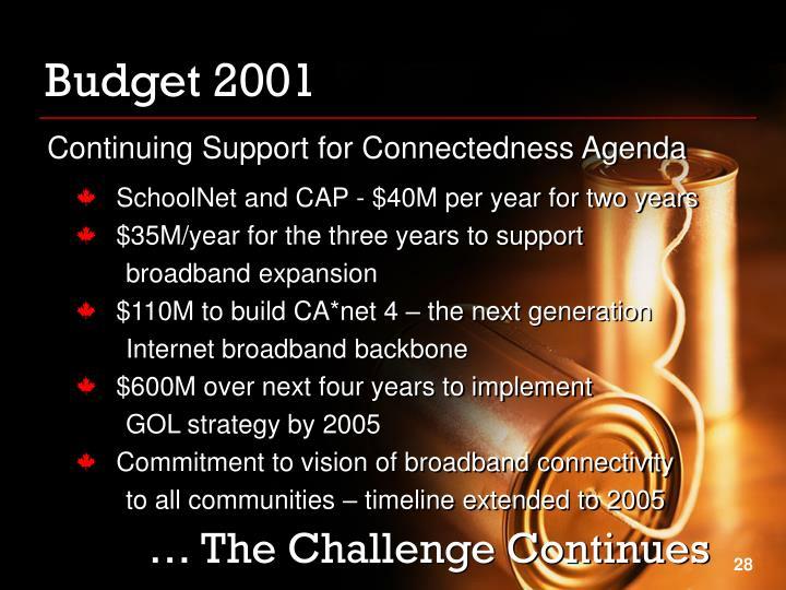 Budget 2001