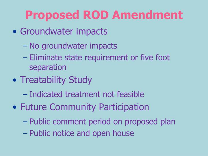 Proposed ROD Amendment