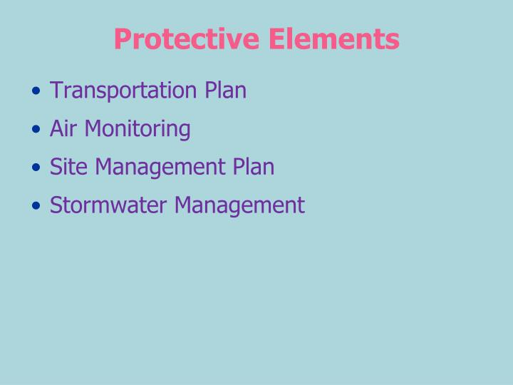 Protective Elements