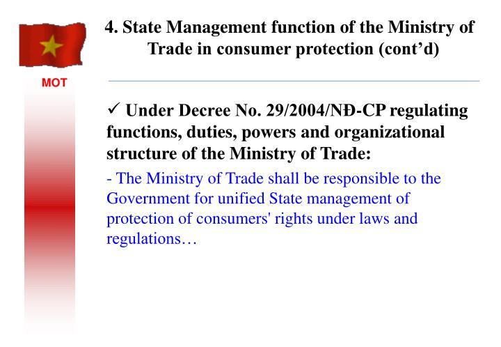 Under Decree No. 29/2004/NĐ-CP regulating