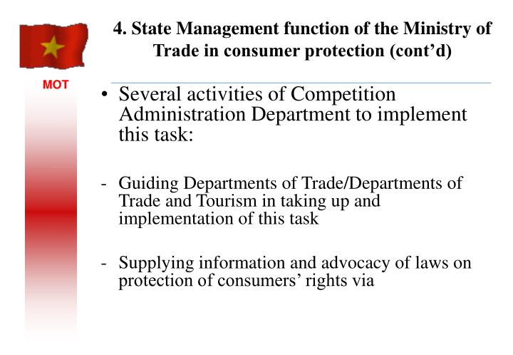 Several activities of Competition Administration Department to implement this task: