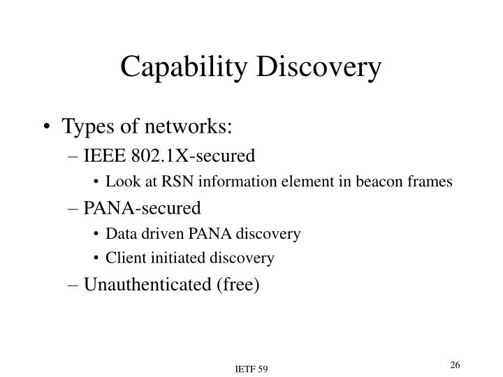 Capability Discovery