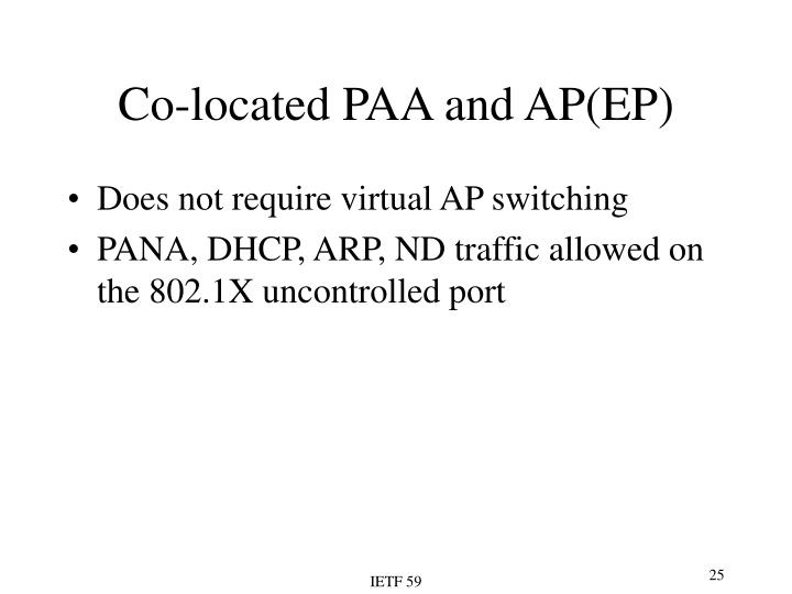 Co-located PAA and AP(EP)