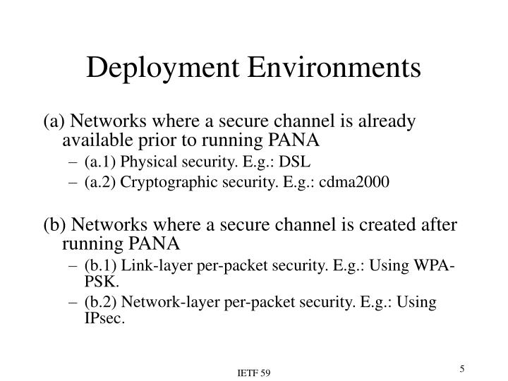 Deployment Environments