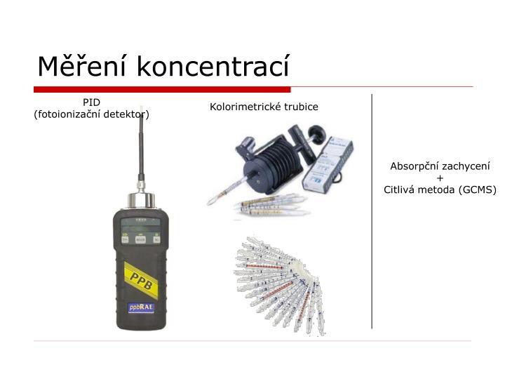 Měření koncentrací