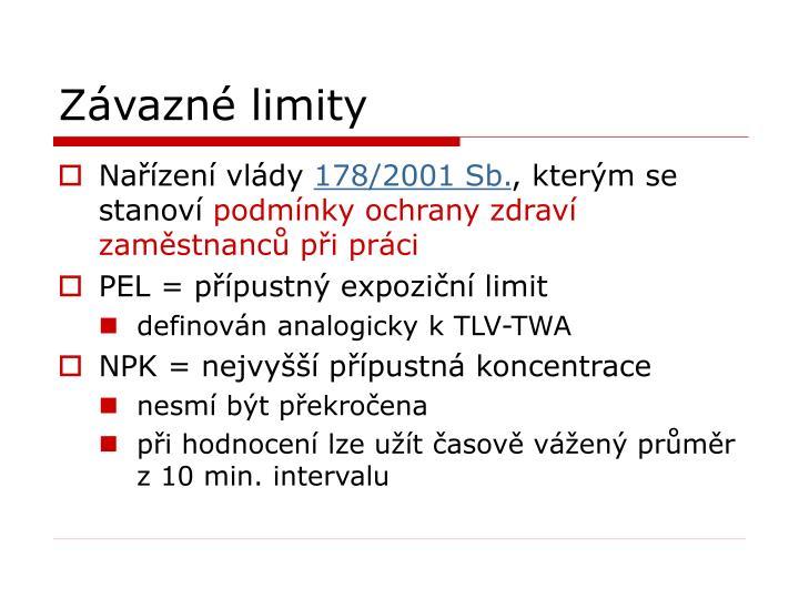 Závazné limity
