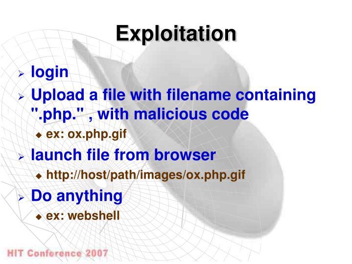 Exploitation