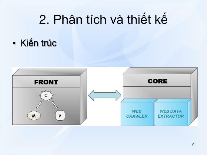 2. Phân tích và thiết kế