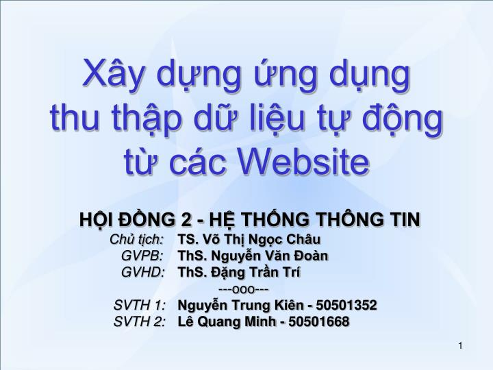 Xây dựng ứng dụng