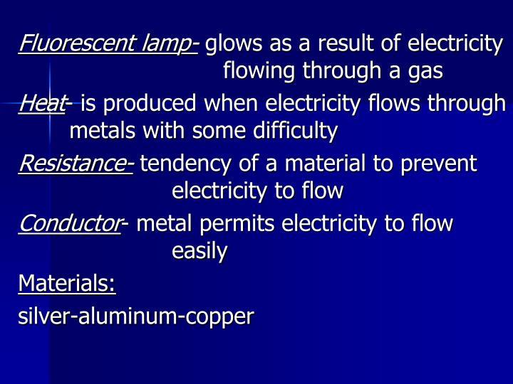 Fluorescent lamp-