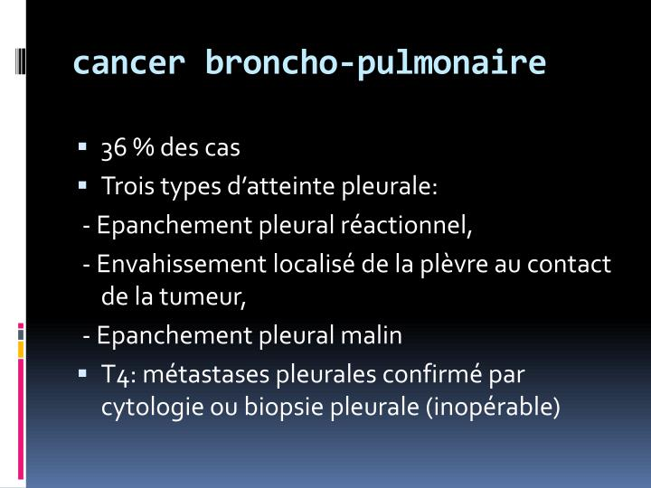 cancer broncho-pulmonaire