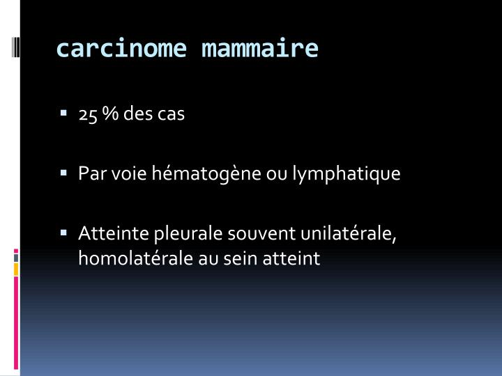 carcinome mammaire