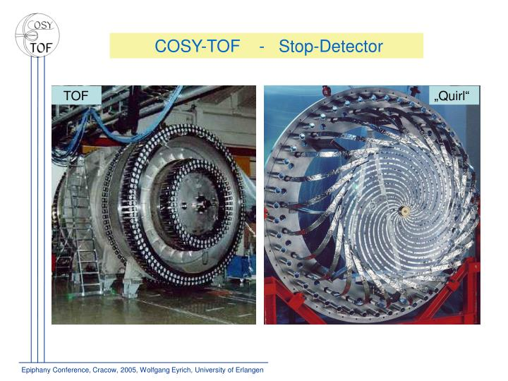 COSY-TOF    -   Stop-Detector