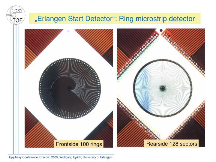 """""""Erlangen Start Detector"""": Ring microstrip detector"""