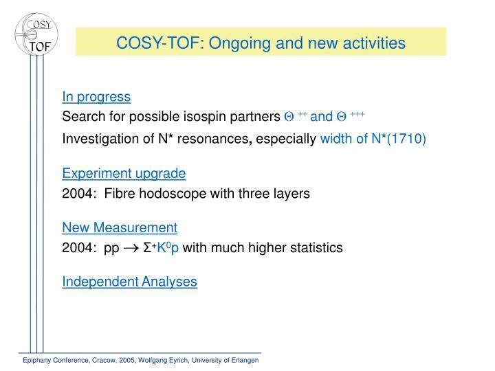 COSY-TOF: