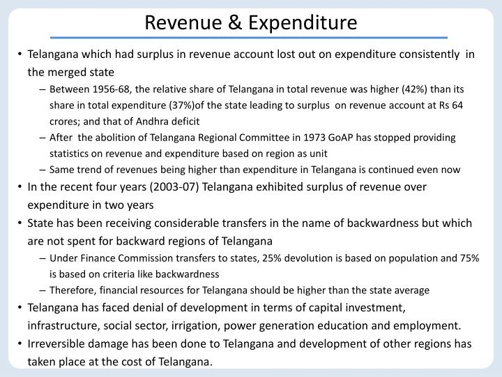 Revenue & Expenditure