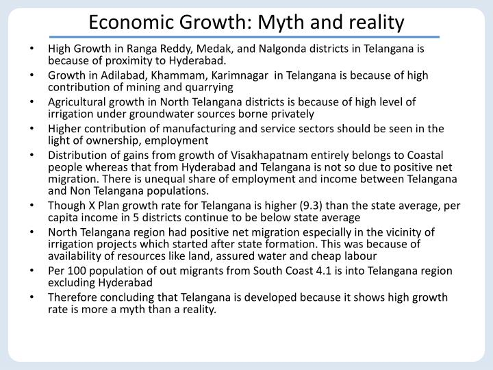 Economic Growth: Myth and reality