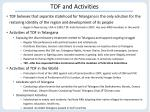 tdf and activities