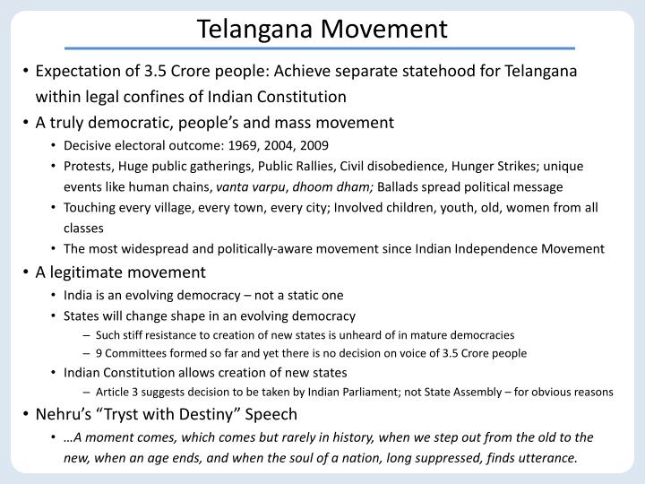 Telangana movement