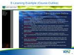 e learning example course outline