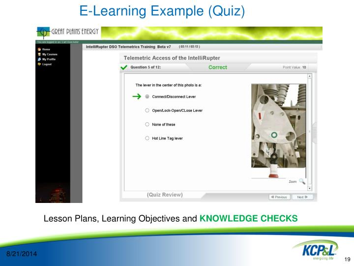 E-Learning Example (Quiz)