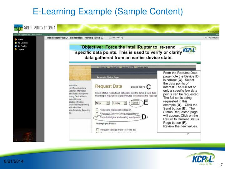 E-Learning Example (Sample Content)