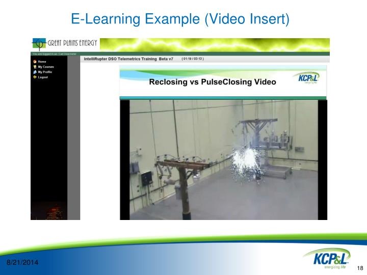 E-Learning Example (Video Insert)