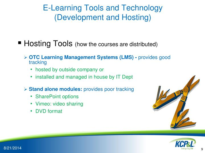 E-Learning Tools and Technology