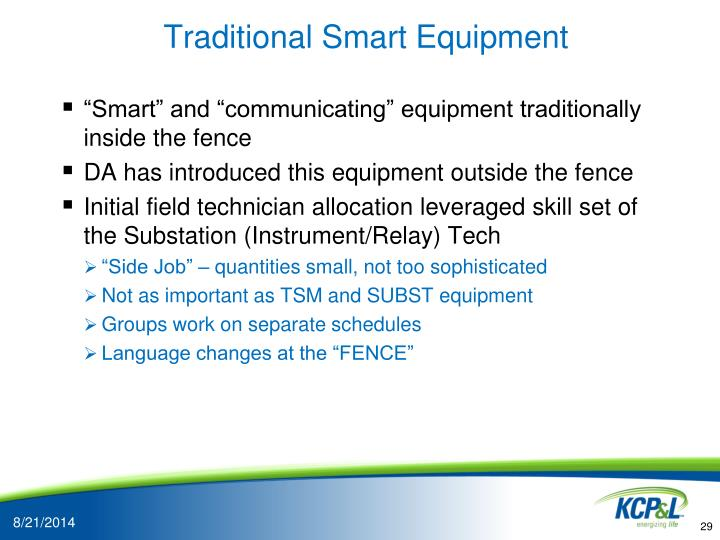 Traditional Smart Equipment