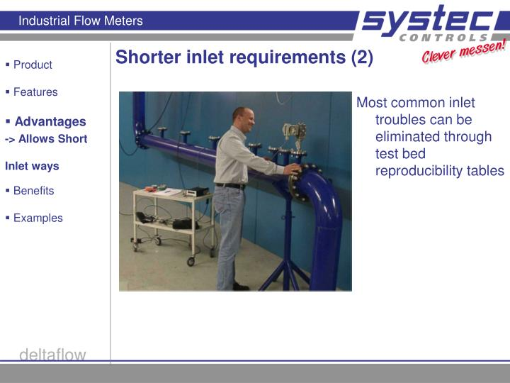Shorter inlet requirements (2)
