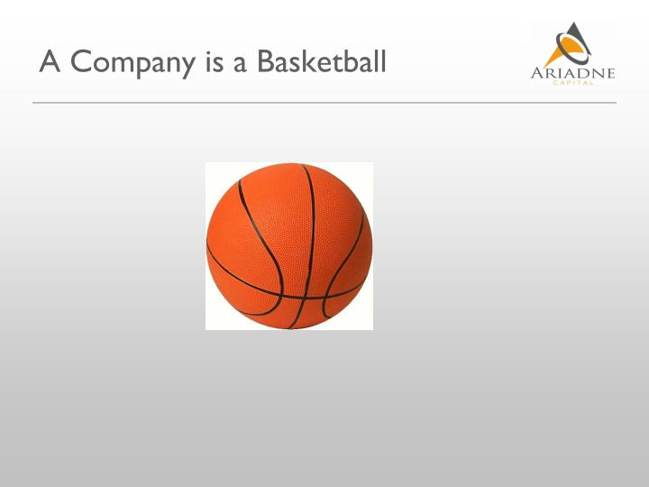 A Company is a Basketball