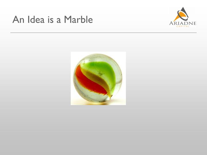 An Idea is a Marble