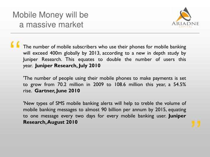Mobile Money will be