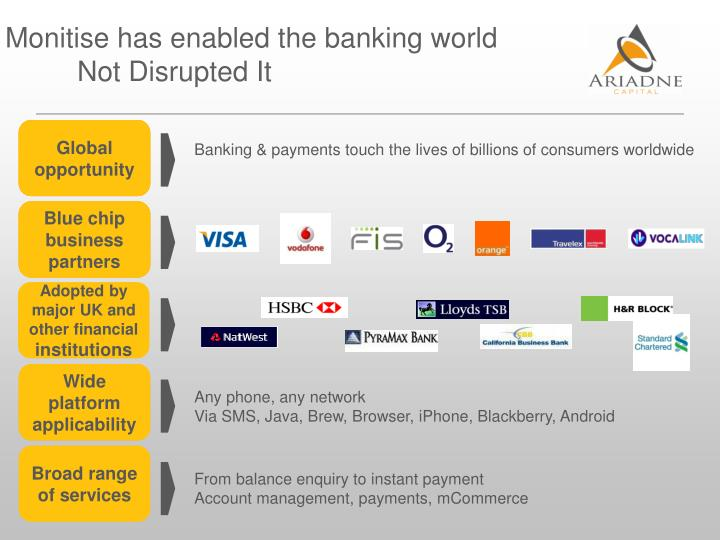 Monitise has enabled the banking world