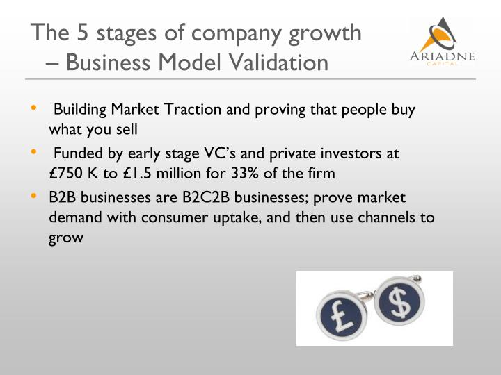 The 5 stages of company growth – Business Model Validation