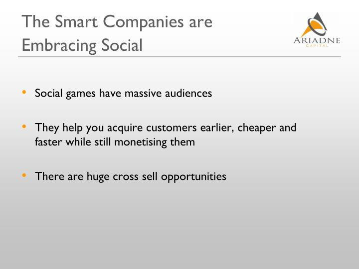 The Smart Companies are Embracing Social