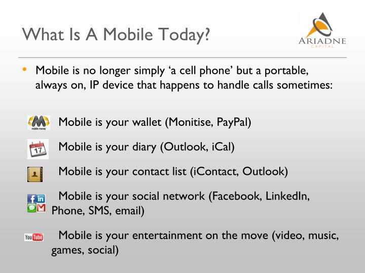 What Is A Mobile Today?