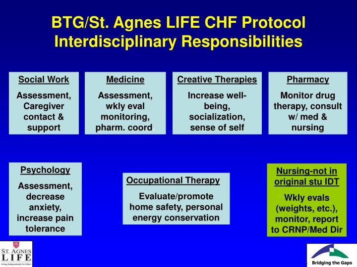 BTG/St. Agnes LIFE CHF Protocol